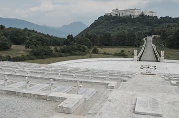 Panel Szklany Militaria Polish cemetery Monte Cassino