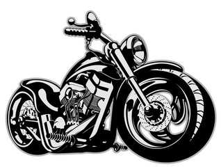 Fototapeta Motor Vector Cartoon Motorbike
