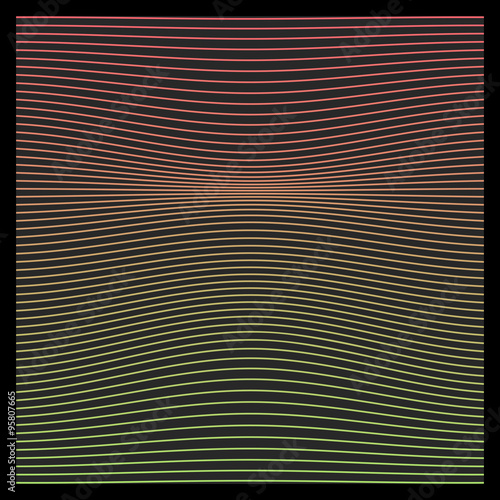 Aluminium Prints Macro photography Abstract vector background. Geometric Lines with Exclusive Colors- Creative and Inspiration Design