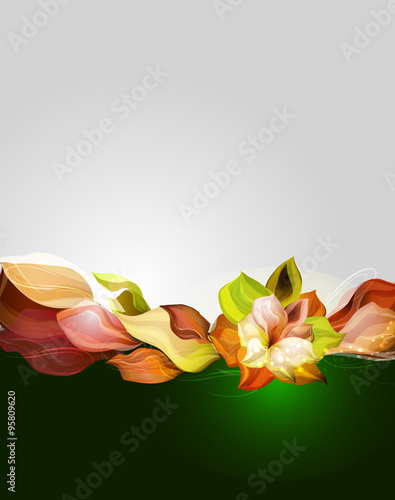 Naklejka premium Awesome vector flower