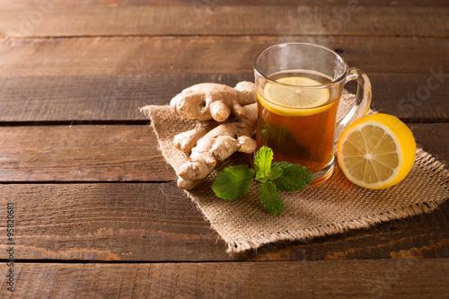 Staande foto Thee ginger tea