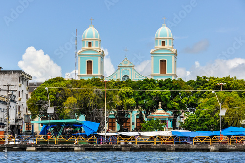 The view of Santarem in the Amazon Rainforest, Brazil Fototapet