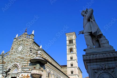 Fotografie, Obraz  Italia,Toscana,Prato,la cattedrale.