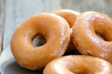 Glazed Donuts Background Image...