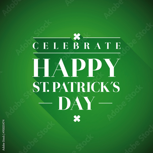 Papiers peints Affiche vintage Saint Patrick's Day Typographical background