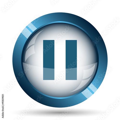 Fotografie, Obraz  Pause icon