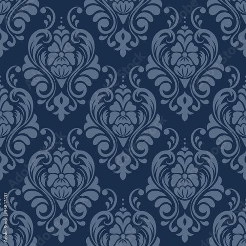 plakat victorian seamless pattern