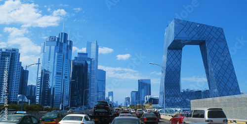 Deurstickers Peking Beijing skyline