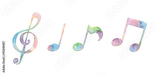Fotomural  音符たち、虹色