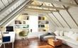 Leinwanddruck Bild - Dach-Apartment
