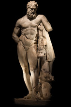 A Statue Of Powerful Hercules,...