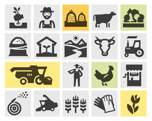 Farm Icons Set. Signs And Symbols