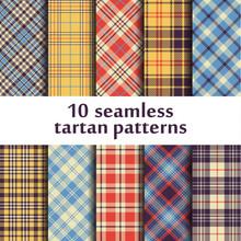 10 Seamless Tartan Patterns