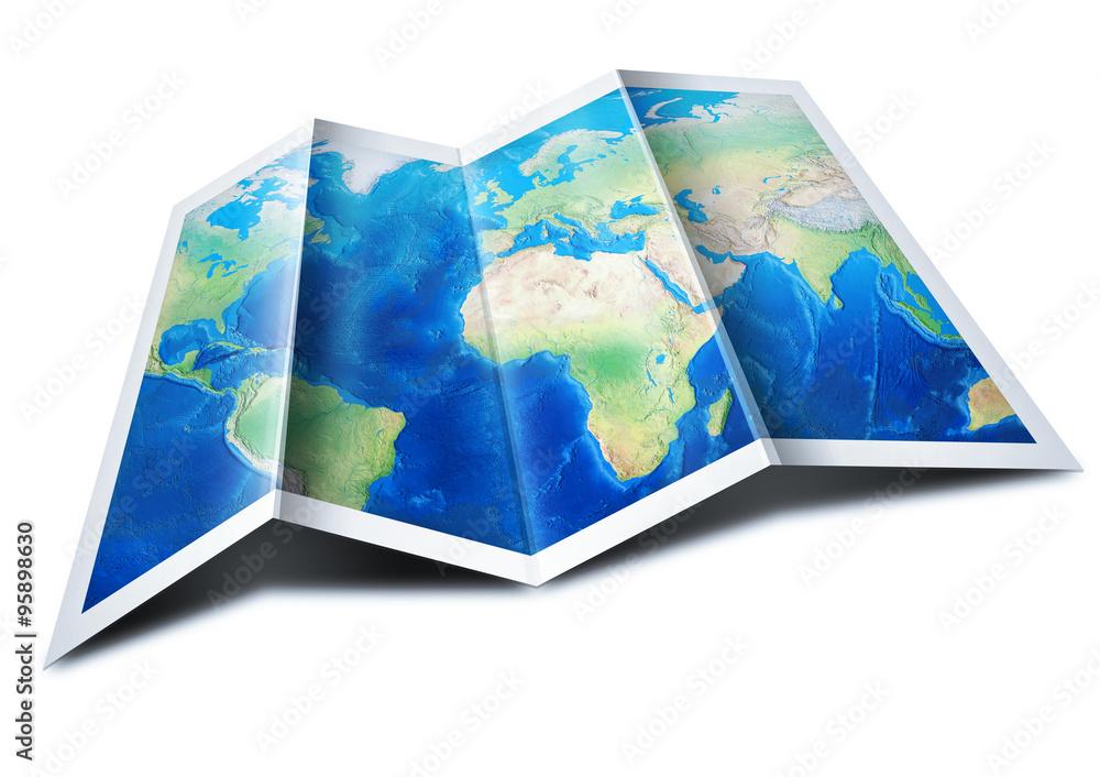 Fototapeta Map of the World