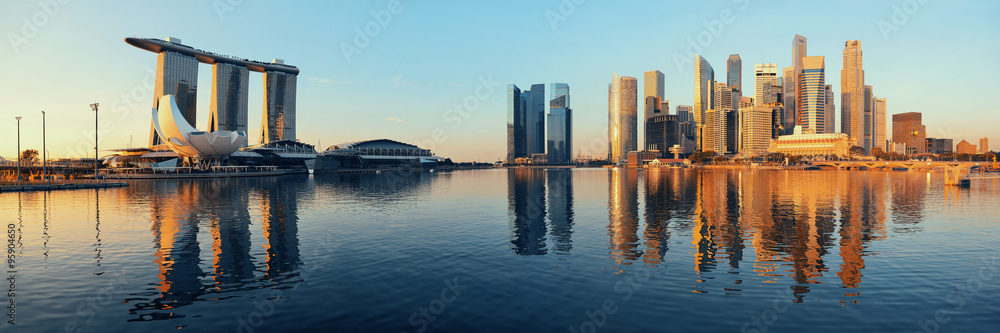 Fotografiet  Singapore skyline