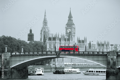 Poster Londres bus rouge London