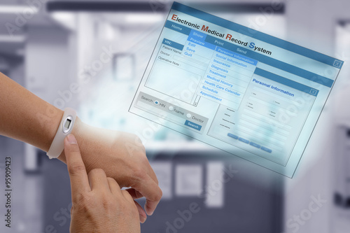 Zdjęcie XXL Elektroniczna rejestracja dokumentacji medycznej.