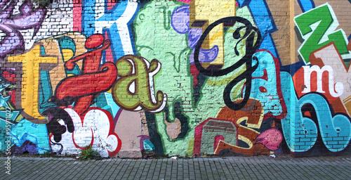 Poster Graffiti Street art / Alphabet