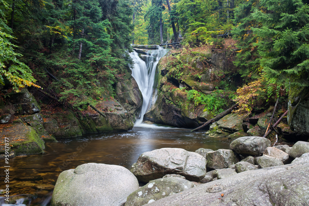 Szklarka Waterfall in Karkonosze Mountains