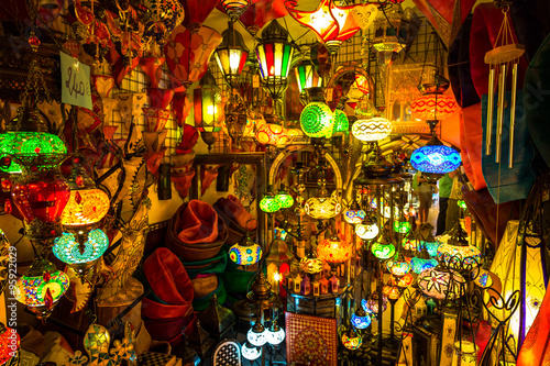 Papiers peints Maroc Arabic lamps and lanterns in the Marrakesh,Morocco