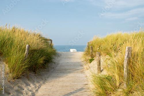 Weg zum Strand in Heiligenhafen, Ostsee, Deutschland
