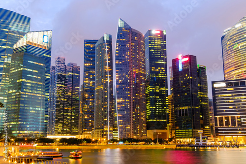 Foto auf AluDibond Brücken Singapore Skyline and view of Marina Bay