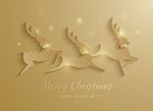 Rudolph Reindeer. Greeting Card.