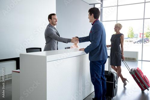 Cuadros en Lienzo Man at reception hall