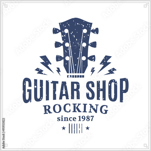 Photo  Guitar Shop Logo