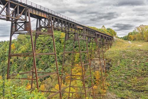 Valokuva  Letchworth Railorad Trestle in Autumn