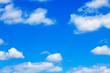 Leinwandbild Motiv blue sky with white fluffy clouds background