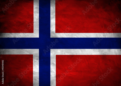 Photo  Norway flag banner