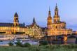 Night Cityscape of Dresen old city at sunset