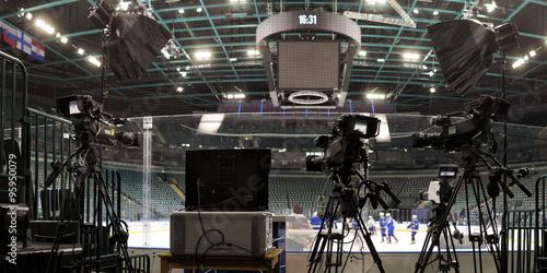 Fotografía  TV camera for broadcast hockey