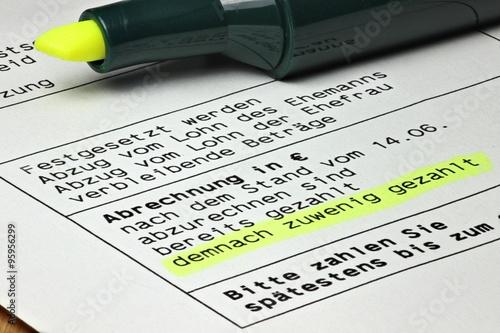 Steuerbescheid Mit Angemarkerter Nachforderung Kaufen Sie Dieses
