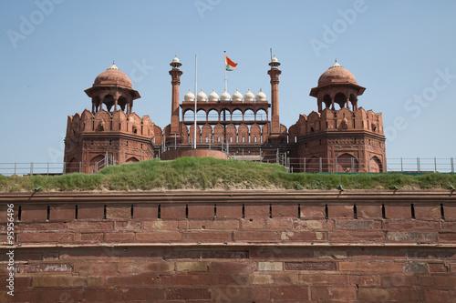 Stickers pour porte Delhi Red Fort, Unesco world heritage site, Delhi, India