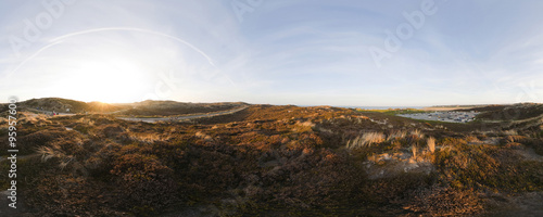 Fotobehang Zwavel geel Panoramic view of island Sylt landscape