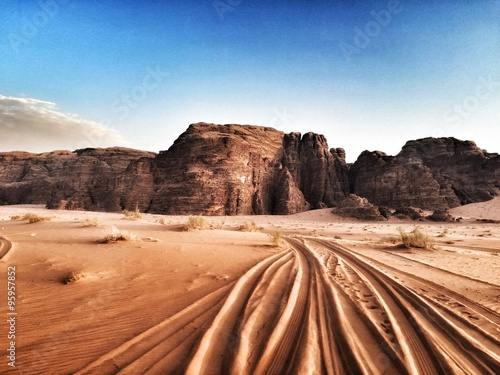 Photo  Deserto Wadi Rum in Giordania