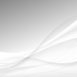 Abstract white waves - data stream concept. Vector illustration