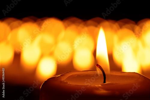 Fotografie, Obraz  A sea of candles