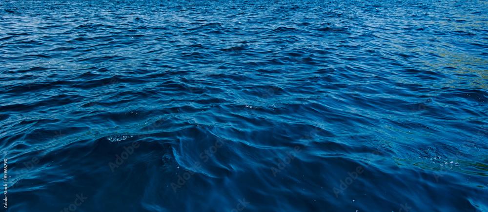 Fototapeta close up blue water surface at deep ocean