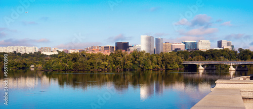 Downtown of Arlington, Virginia and Potomac River Wallpaper Mural