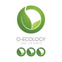 Eco Letter O Green Design Logo Icon