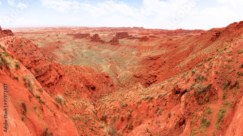 Deurstickers Baksteen landscape of red sandstone