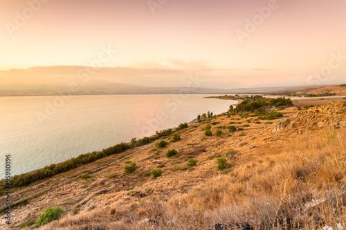 Fotografia Panorama of east side of The Galilee Sea