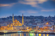 Istanbul. Image of Istanbul with Yeni Cami Mosque during sunrise.
