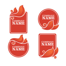 Vector Collection Of Fire Forms And Frames For Your Text