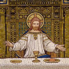 The Last Supper (Jesus, mosaic)