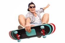 Skater Performing Tricks With ...