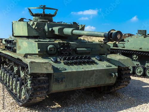 Fotografia  Old German made Panzer PzKpfw IV medium battle tank